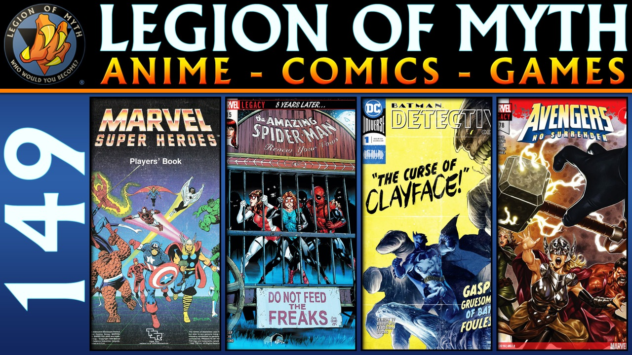 ANIME – COMICS – GAMES | #149 | 03 Feb 2018 | Marvel RPG, Spiderman, Avengers, Detective Comics