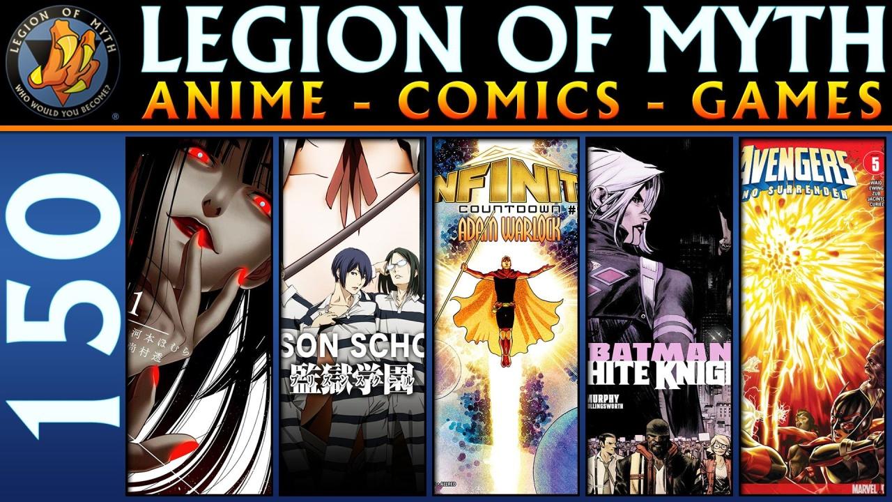 ANIME – COMICS – GAMES | #150 | 10 Feb 2018 | Kakegurui, Prison School, Batman, Avengers, andMORE!