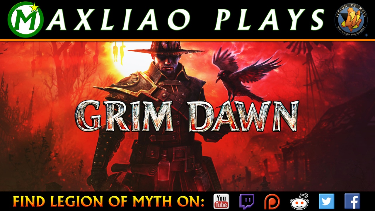 MaxLiao streams Grim Dawn | Necromancer: Skeleton Army