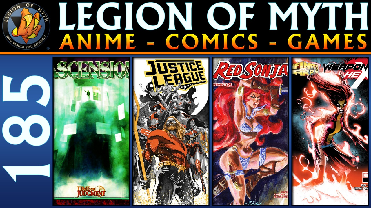 Time of Judgment (Mage), Justice League 10, Red Sonja 22 & Weapon Hex 1 | #185 | 20 Oct2018