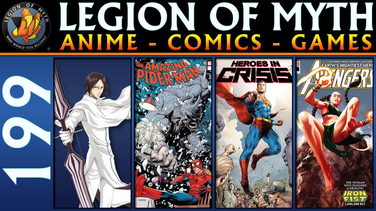 Uryuu Ishida, The Amazing Spider-Man #14, Heroes in Crisis #5, Avengers #13 | 2 Feb2019