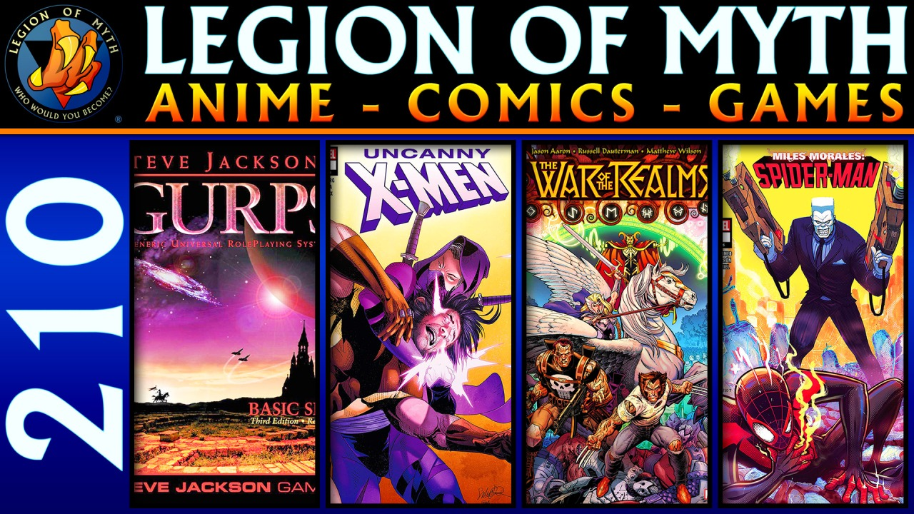 GURPS RPG; Uncanny X-Men #16, War of the Realms #2, Miles Morales: Spider-Man #5