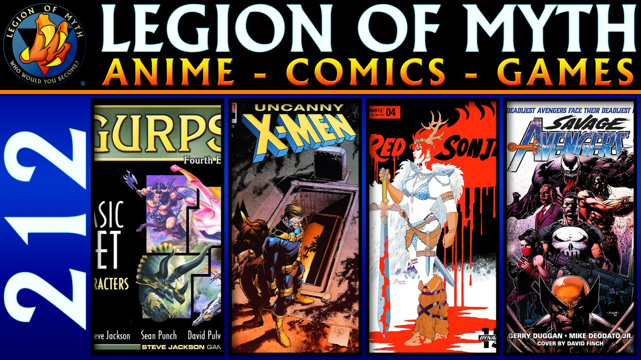 GURPS 4th Edition; Uncanny X-Men #17, Red Sonja #4 & Savage Avengers #1; Sword Art Online: Abridged