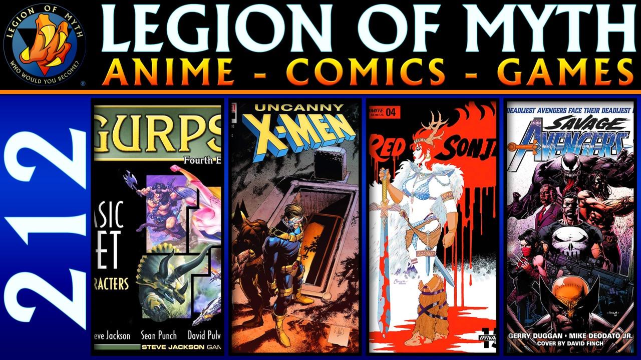 GURPS 4th Edition; Uncanny X-Men #17, Red Sonja #4 & Savage Avengers #1; Sword Art Online:Abridged