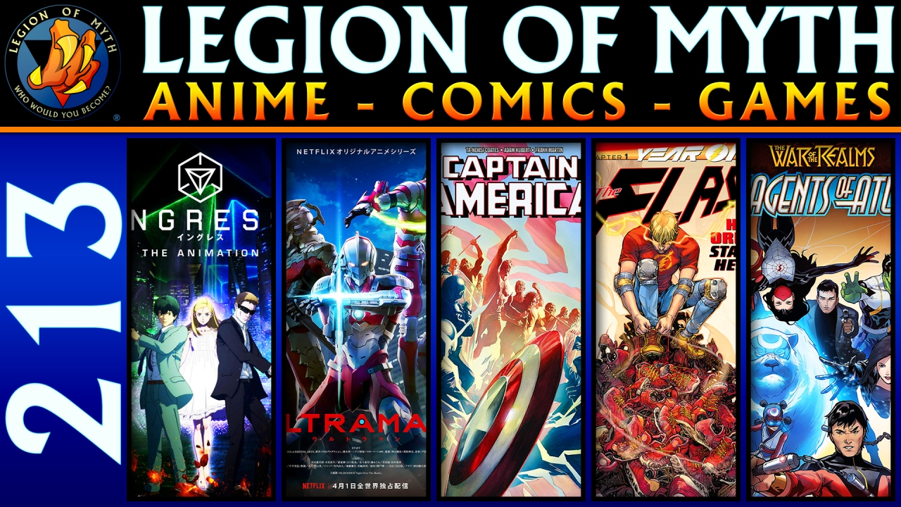 Ingress: The Animation, Ultraman | Captain America #10, Flash #70 & New Agents Of Atlas #1