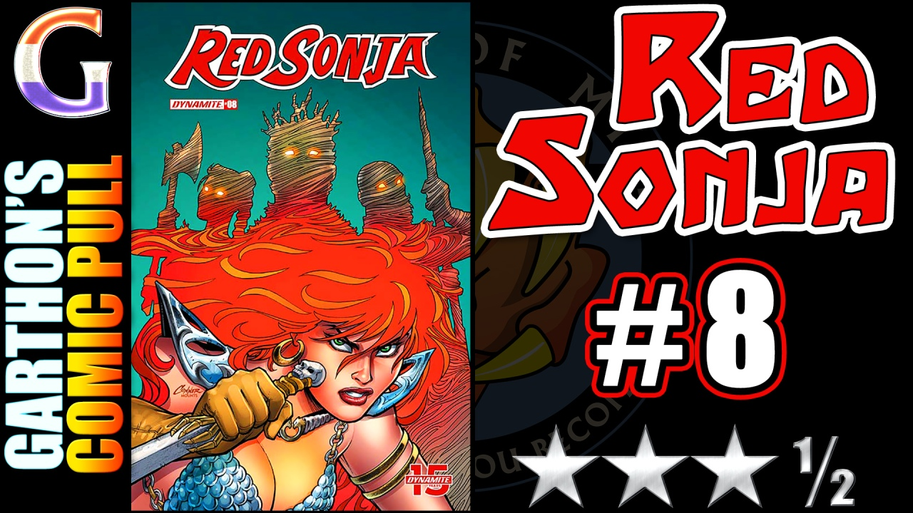 Comic book review: RED SONJA #8 – A fun [😊😊😊½] book