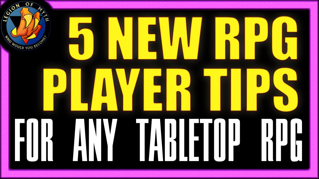 TTRPG & DnD – 5 NEW PLAYER TIPS for playing your first tabletop RPG