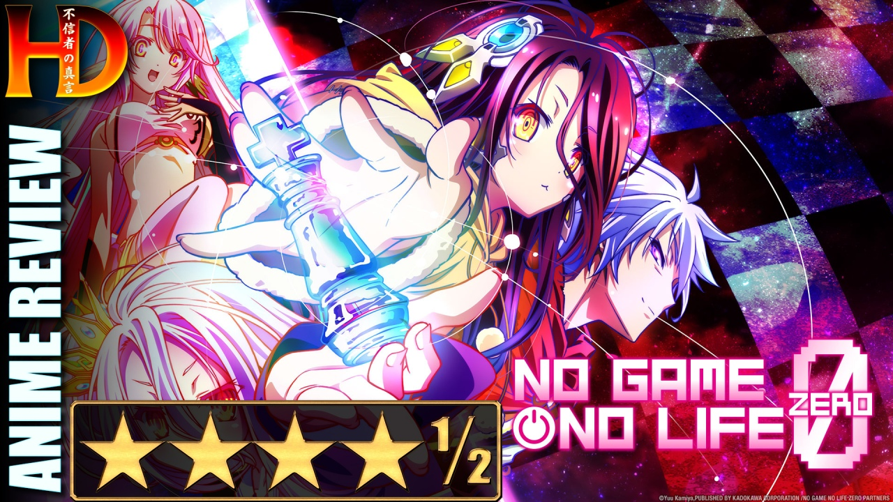 Anime review of NO GAME NO LIFE: ZERO – A great [💪💪💪💪½] movie