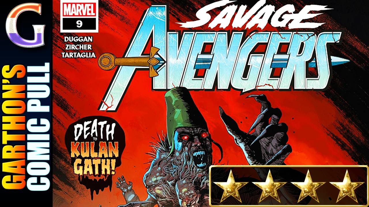 SAVAGE AVENGERS #9 – [💪💪💪💪] of good, pulpyaction