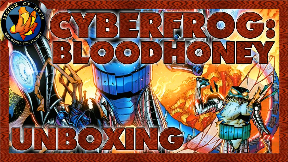 UNBOXING | CYBERFROG: BLOODHONEY – (Team up & chromium covers, ashcan & amphibionix)