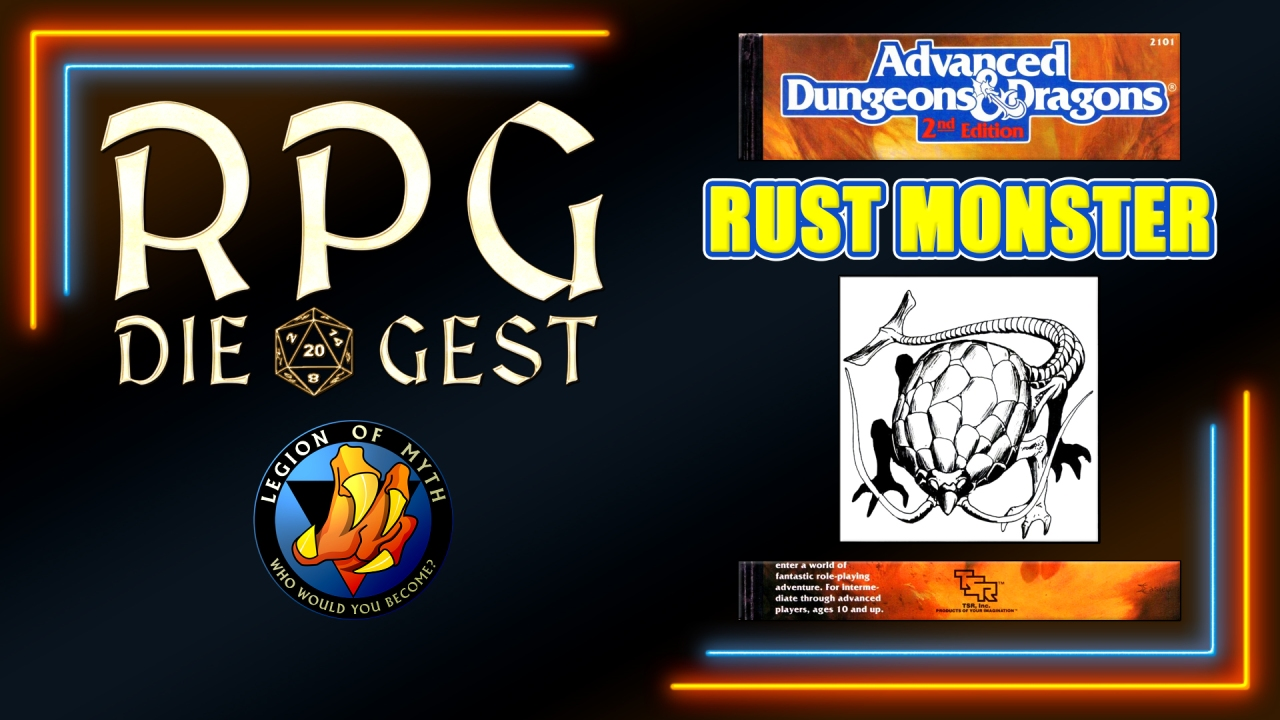 [#13-1.4] – How to use the RUST MONSTER in Advanced Dungeons & Dragons