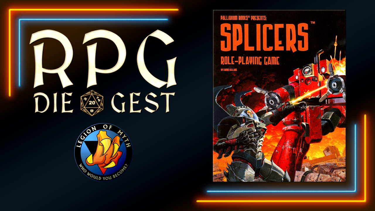[#14-1] – Palladium Books Megaverse – Splicers RPG overview