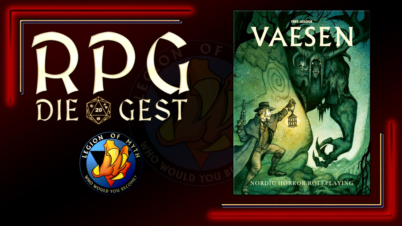 [#07-2.1] Vaesen: Nordic Horror Roleplaying – (PDF overview and partial unboxing)