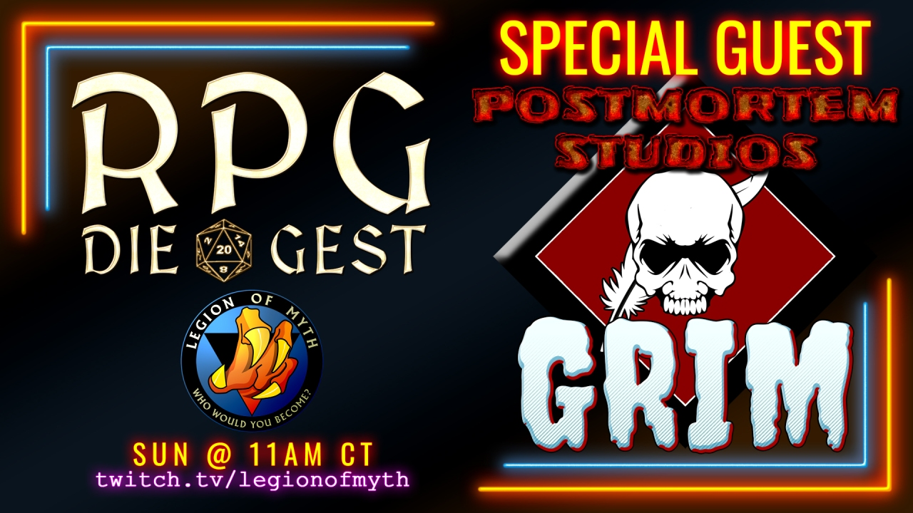[#19-2] – GRIM from Postmortem Studios joins us to talk about horror genre RPGs